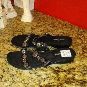 MinneTonka Boca III Leather Sandals
